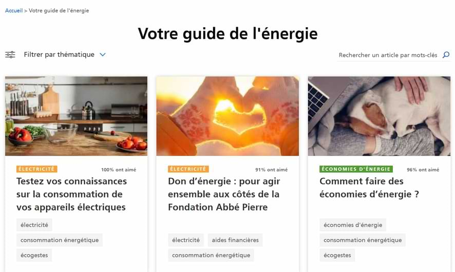 Exemple de stratégie de contenu : blog EDF