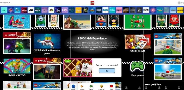 Plateforme Lego Kids